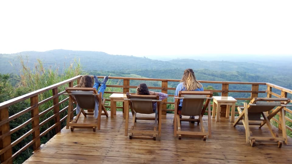 View from Isunga lodge