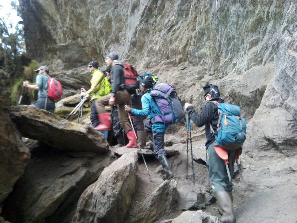 Rwenzori mountains hike